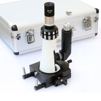 Portable Metallurgical Microscope with Magnetic Base Polarizer