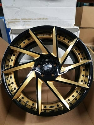 3 Piece NC Forged Rims And Tires (set of 4)