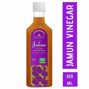 Neuherbs Jamun Vinegar with the Mother, Raw and Unfiltered 350 ml