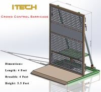 Outdoor Foldable Crowd Control Barricade