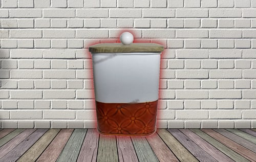 pink red Square 3d Style Kitchen Canister Set