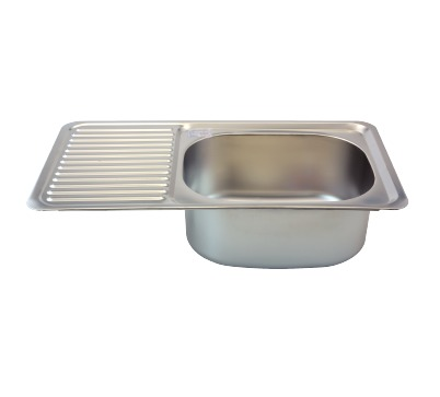 Stainless Steel Kitchen Sink Single Bowl With Side Table