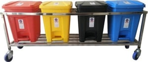 Plastic Pedal Dustbin With Stand 16 Ltr