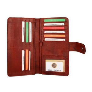 Ladies Red Shade Leather Wallets