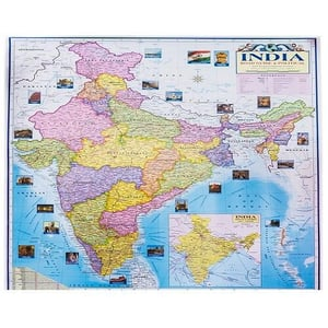 India Political And Physical Map
