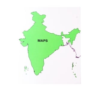 Very Superior Washable Outline Map