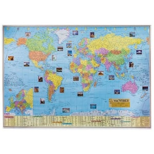 World Political And Physical Map