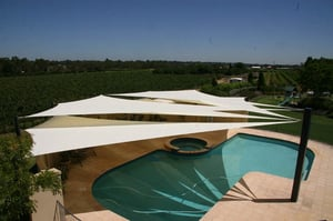 Swimming Pool Shade Covering