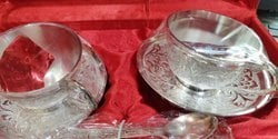 Round German Silver Cup Plate