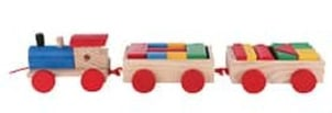 Wooden Moving Train Toy