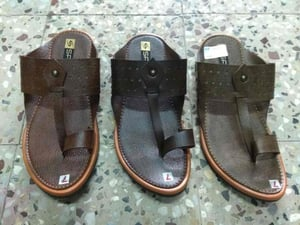 Mens Synthetic Leather Slippers