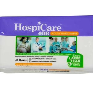 Disposable Adult Body Wet Wipes 40R