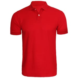 Polyester Red Polo T Shirt