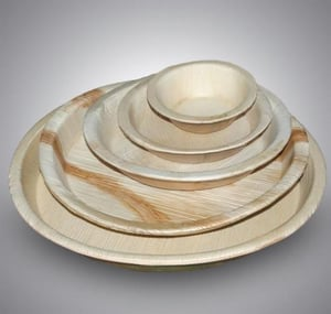 Natural Dinnerware, Disposable Wooden Finish Biodegradable