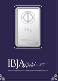 IBJA GOLD 20gm (999) Investment Silver Bar