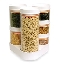 Crystal Food Container Combo With Stand