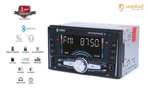 Unplug 3636 - Double DIN FM Player with Bluetooth