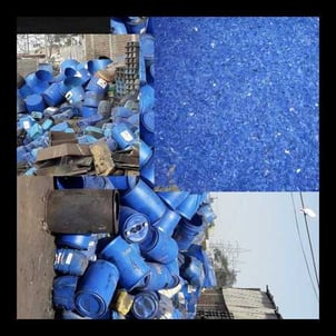 HDPE Blue Drum Grinding Chips