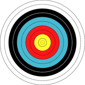 Round Archery Target Face