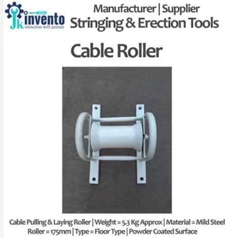 Cable Laying Roller Stand Capacity: 250 Approx. Kg/Hr