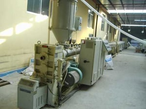 Twin Screw PVC Pipes And Profiles Extrusion Line