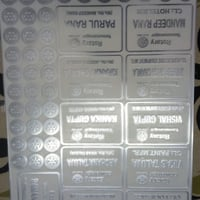 EP Silver And Gold Metal Stickers