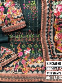 Bin Saeed Lawn Embroidered Ladies Suit