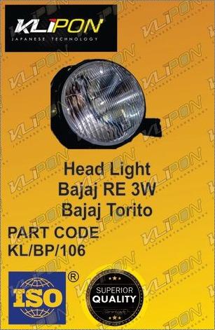 Head Light Bajaj RE Three Wheeler Parts