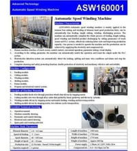 Automatic Spool Winding Machine For Trimmer Head