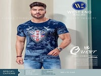 Men Blue Color Casual T Shirts