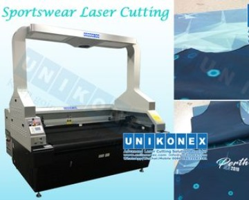 Dye Sublimation Printed Sportswear Laser Cutting Machine