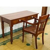 Antique Teak Wood Table And Chair