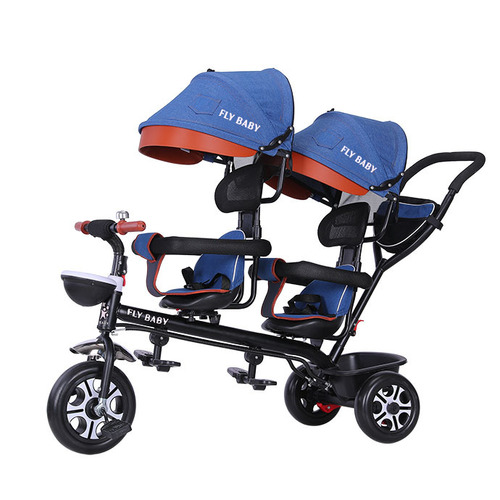 Children Twin Tricycle With Two Seats
