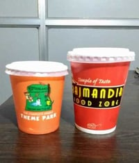 Printed Paper Cups with Lids