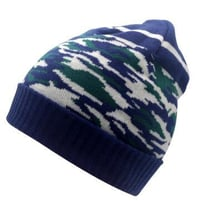 Knitting Hat Striped Beanie