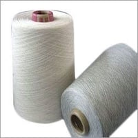 White Color Cotton Blended Yarn