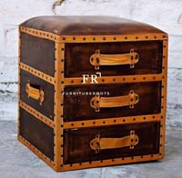 Attractive Look Leather Ottoman