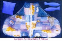 Baby Cotton Net Bed With 3 Pillows