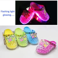Cartoon Flash LED Light PVC Children Shoe