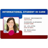 PVC College ID Card