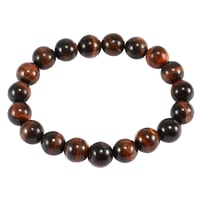 10mm Round Red Tiger Eye Handmade Stretchable Bracelet
