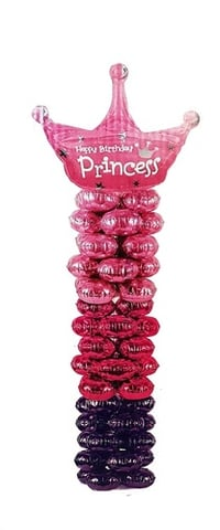 Atpata Funky Princess Crown 5 Feet Balloon Pillar Column Stand for Princess Theme Parties, Birthdays, Baby Showers, New Born Parties, etc.