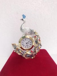 Decorative Desk Peacock Clock