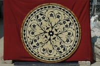 Marble Inlay Round Table Tops