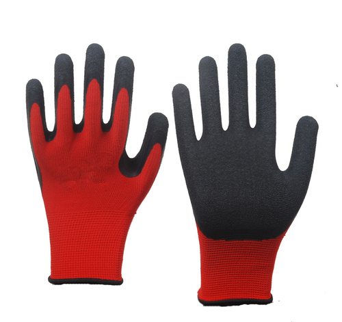 Nylon Knit Latex Coated Work Gloves