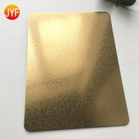 SUS 304 Vibration Finish Titanium Gold Stainless Steel Decorative Sheet For Wall Cladding