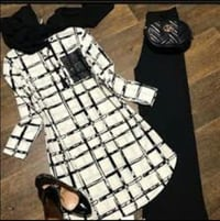 Black and White Top with Palazzo