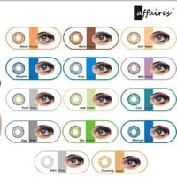 Affaires Quarterly Disposable Color Contact Lenses