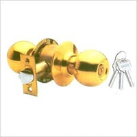 Polished Brass Cylindrical Lock