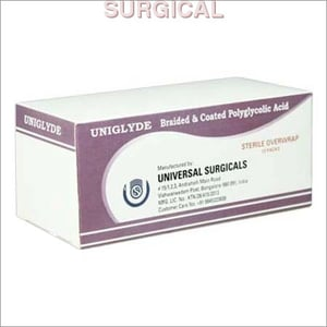 Braided And Coated Polyglycolic Acid Suture